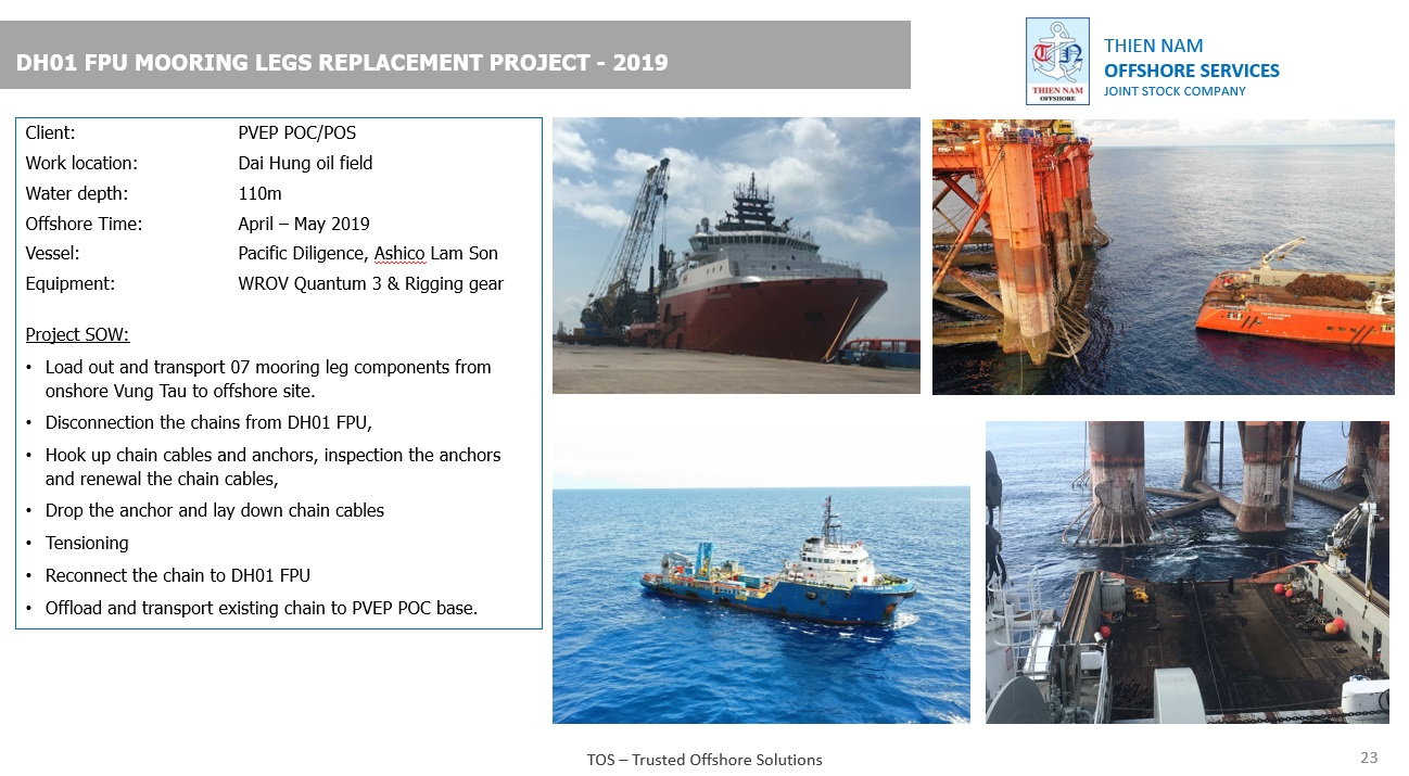 DH01 Mooring Chain Replacement Project – 2019 – Thien Nam